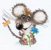 """0-077-Алиса """"Влюбленный мышонок"""" 13х12 см"""