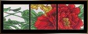 "00302-Астрея Арт ""Красный цветок"" 3 фрагмента"