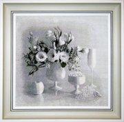 "0104-Юнона ""Белый натюрморт"" 36х35 см"
