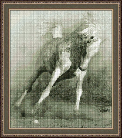 "0111-Юнона ""Белый конь"" 28х32 см"