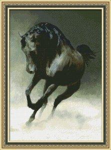 """0113-Юнона """"Черный конь"""" 22,5х32 см"""