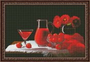 "0115-Юнона ""Красный натюрморт"" 37х24,5 см"