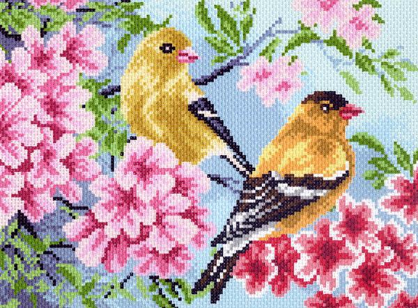 "11/БН-МП ""Птицы в саду"" 17х23 см"
