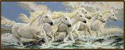 "013-0338-Janlynn ""Лошади, бегущие волнам"" 53,3х21 см"