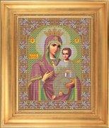 """И-015-GC  Икона Божией Матери  """"Иверская"""" 28 x 35 см"""