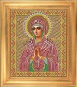 """И-016-GC  Икона Божией Матери  """"Умягчение злых сердец"""" 28 x 33 см"""
