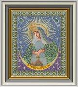 """И-019-GC  Икона Божией Матери """"ОСТРОБРАМСКАЯ"""" 27 x 32 см"""