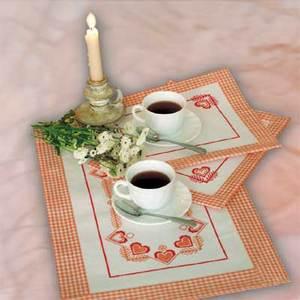 """022-Овен """"Чай вдвоем"""" салфетки комплект"""
