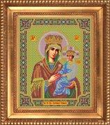"""И-023-GC  Икона Божией Матери """"Споручница грешных"""" 26 x 32 см"""