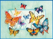 """023-0266-Janlynn """"Бабочки"""" 17,8х12,7 см"""