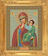 """И-024-GC  Икона Божией Матери """"Отрада или Утешение"""" 26 x 32 см"""