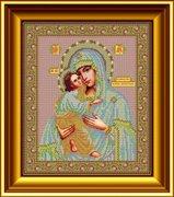 """И-027-GC  Икона Божией Матери """"Псково-Печерская"""" 26 x 31 см"""
