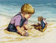 """029-0057-Janlynn """"С мишкой на пляже"""" 35х27,3 см"""