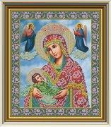 """И-032-GC  Икона Божией Матери """"Млекопитательница"""" 26 x 31 см"""