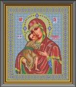 """И-033-GC  Икона Божией Матери """"Феодоровская"""" 26 x 31 см"""