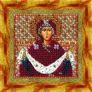 """033ПМИ-Вышивальная мозаика """"Покрова Пресвятой Богородицы"""" 6,5х6,5см"""
