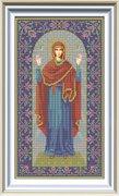 """И-034-GC  Икона Божией Матери """"Нерушимая Стена"""" 20 x 36 см"""