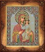 """И-036-GC  Икона Божией Матери """"Смоленская"""" 27 х 33 см"""