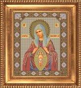 """И-040-GC  Икона Божией Матери """"Помощница в родах""""  26 x 31 см"""