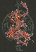 "0403-Юнона ""Царь драконов"" 40х57см"