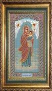 """И-041-GC  Икона Божией Матери """"Благодатное Небо""""  20 x 36 см"""
