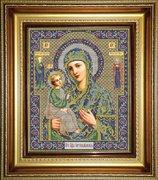 """И-042-GC  Икона Божией Матери """"Иерусалимская""""  25 x 31 см"""