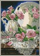 "06929-Dimensions ""Розы и кружева"" 13х18 см"