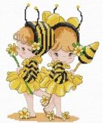 """08-H-Pinn """"Девочки-пчелки"""" 18х21 см"""