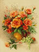 """100/049-Риолис """"Чайные розы"""" 30х40 см"""