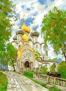"""АЖ-1007 """"Новодевичий монастырь"""" 42x57 см"""