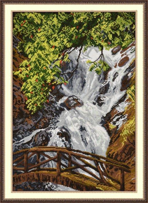 """644-Овен """"Водопад Датанла"""" 30х41 см"""