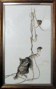 """1033-Алисена """"Кошки-мышки""""  33х57 см"""