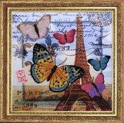 "107-Butterfly ""Привет из Парижа"" 26х26 см"