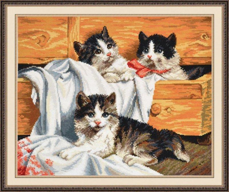"""674-Овен """"Котята"""" 42х33 см"""