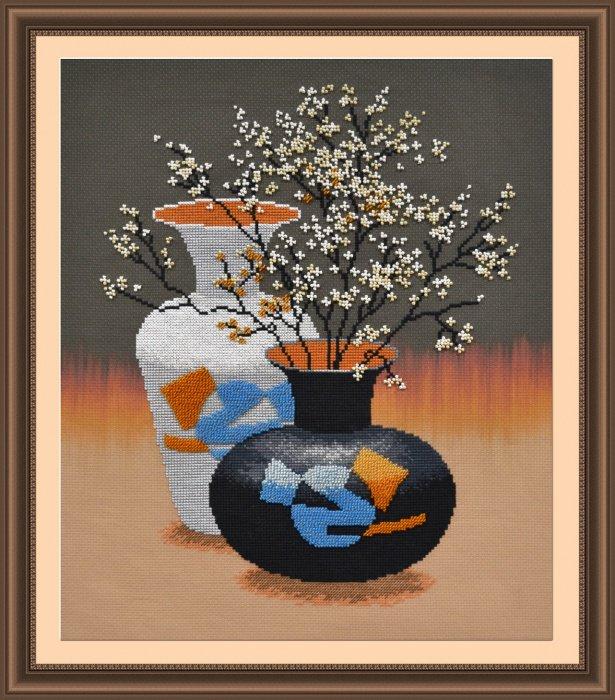 """РК-002-Овен """"Ваза с цветами"""" 27х35 см"""