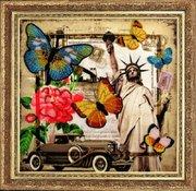 "111-Butterfly ""Привет из Америки"" 26х27 см"