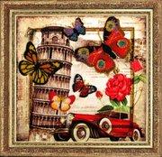 """112-Butterfly """"Привет из Италии"""" 26х27 см"""