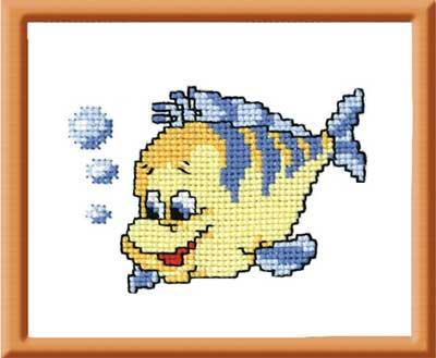 """112-Овен  """"Рыбка""""  9x7 см"""