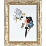 """1150-Алисена """"Девушка с попугаем"""" 20х28 см"""