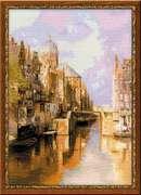 "1190-Риолис ""Амстердам. Канал Аудезейтс Форбургвал"" 40x60 см"