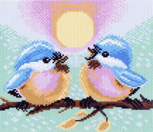 """1221-Матренин Посад """"Две птички"""" 23х28 см"""