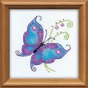 """1264-Риолис """"Чудесная бабочка"""" 10x10 см"""