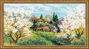 """1275-Риолис """"Яблоневый сад""""  41x23 см"""