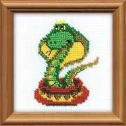 "1289-Риолис ""Королева змей"" 10x10 см"