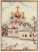 """В-047-Кроше """"Москва. Смоленский собор"""" 10х14 см"""