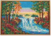 """В-042-Кроше """"Лесной ручей"""" 21х15 см"""