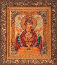 """В-165-Кроше """"Богородица Неупиваемая Чаша"""" 20х24 см"""