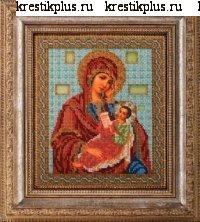 """В-158-Кроше """"Богородица Утоли Моя Печали"""" 20х24 см"""