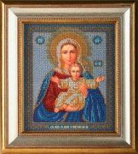 """В-156-Кроше """"Богородица Леушинская"""" 21х25 см"""