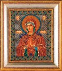 """В-154-Кроше """"Богородица Умягчение злых сердец"""" 20х25 см"""